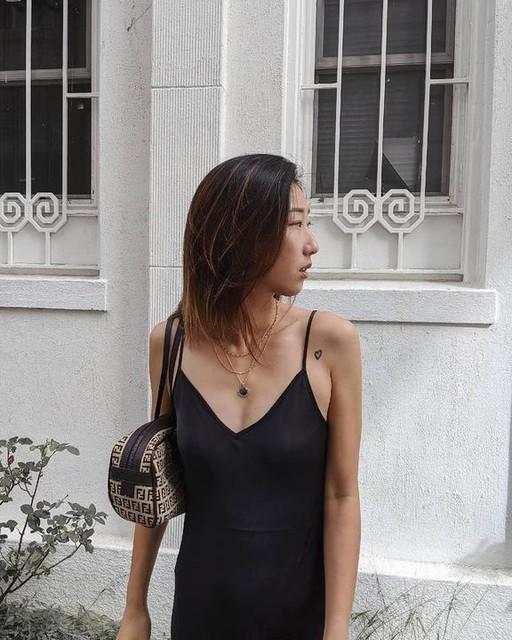 aysdiary - Abito Karla - 2-in-1 con slip dress e maglione corto