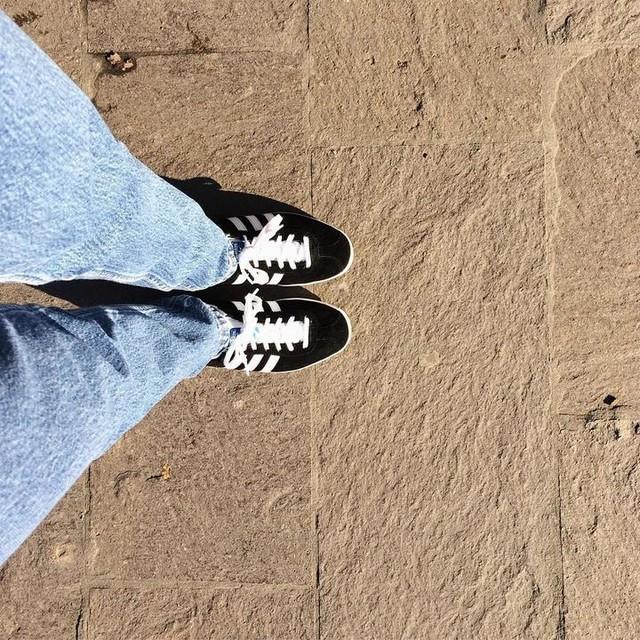 83be6193c038 Levi s 💙  allofthegreytees  levis  jeans  adidas  adidasoriginals  gazelle   whatiwore