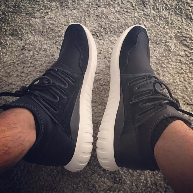 Adidas Tubular Radial Black And White