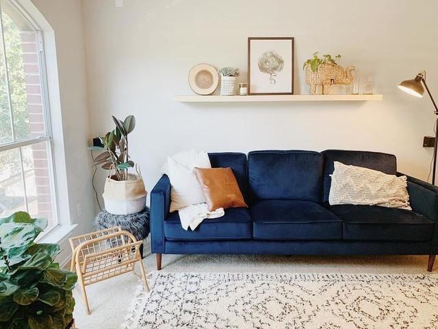 Fairfax Denim Velvet 90 Sofa Living Spaces