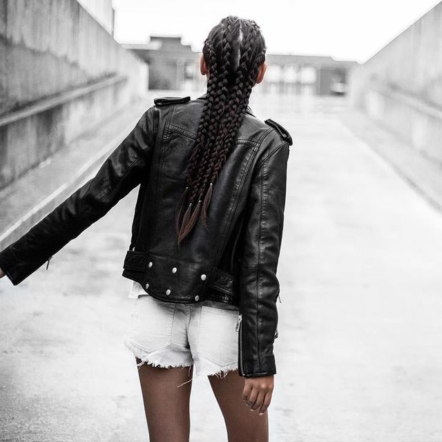 travel. lifestyle. fashion. - Cazadora biker de cuero Gidley