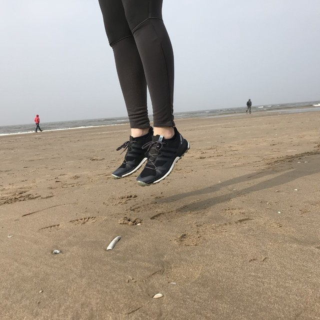 Jumping around to check out the #boost layer of my new #terrex shoes