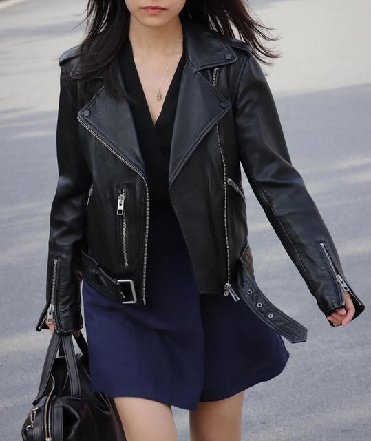 liewclara - Balfern Leather Biker Jacket