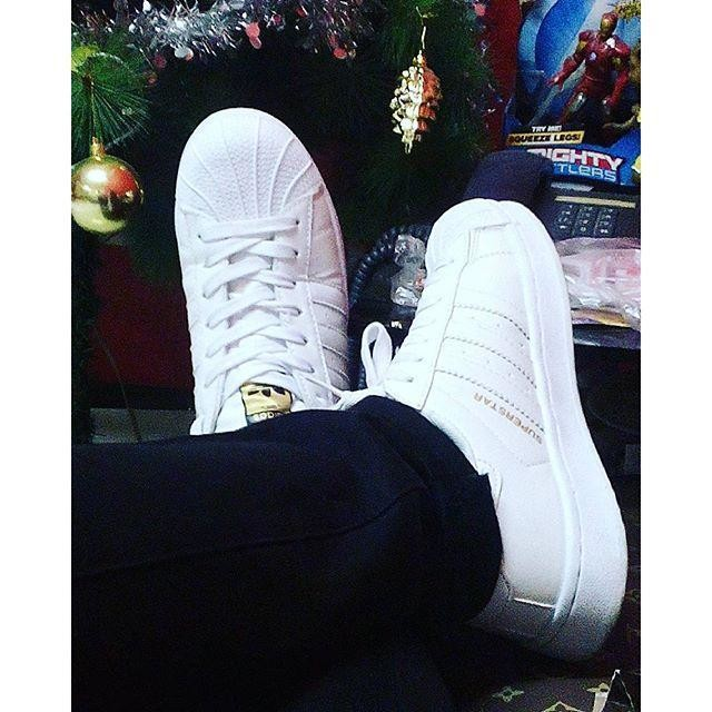 Shoes: adidas superstars, superstar, rainbow, white and black shoes