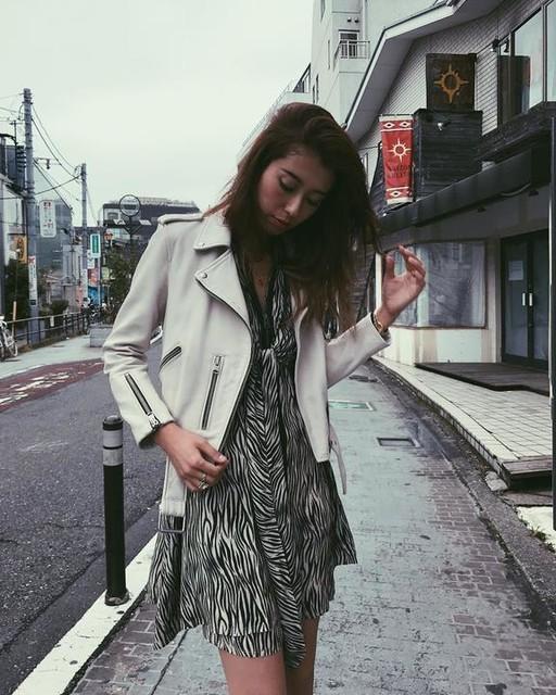 ALLSAINTS JAPAN - Vestido de seda Jayda Zebra