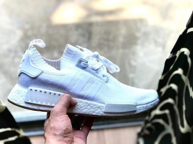 ☁️☁️☁️ #allwhite #nmd #adidasnmd #adidas #3stripesstyle #sneakers #shoes #boost