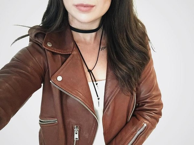 CASEY MARIE DAVID - Balfern Leather Biker Jacket