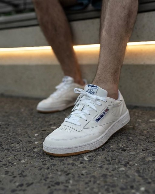 reebok club c on foot