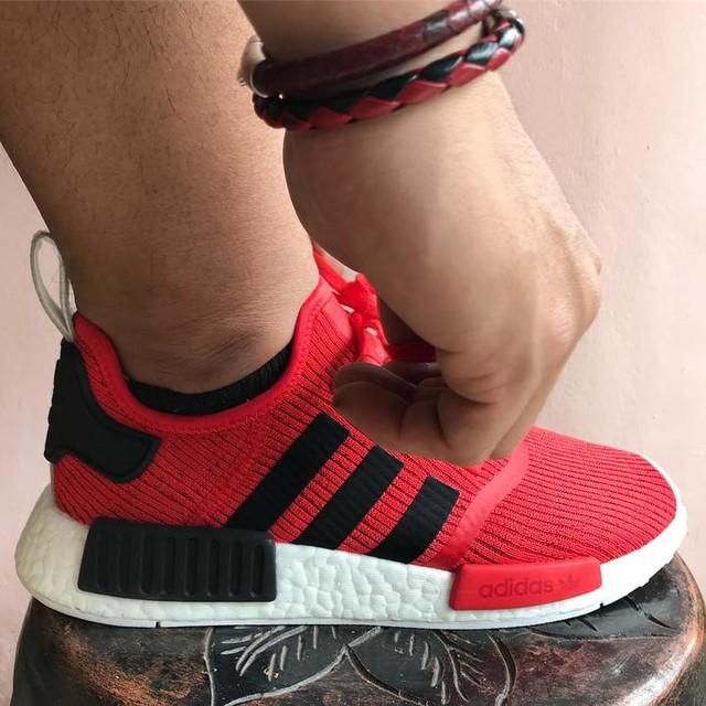Perfect match for lunar new year 🏮🐶 . . . . . #adidas #nmd #nomads #bred #blackred #brandwith3stripes #phyton #lamb #leather #bracelet #wristgame #wristporn #wristcandy #sorcery #lunarnewyear #lny #cny #chinesenewyear #gongxifacai #asian #men