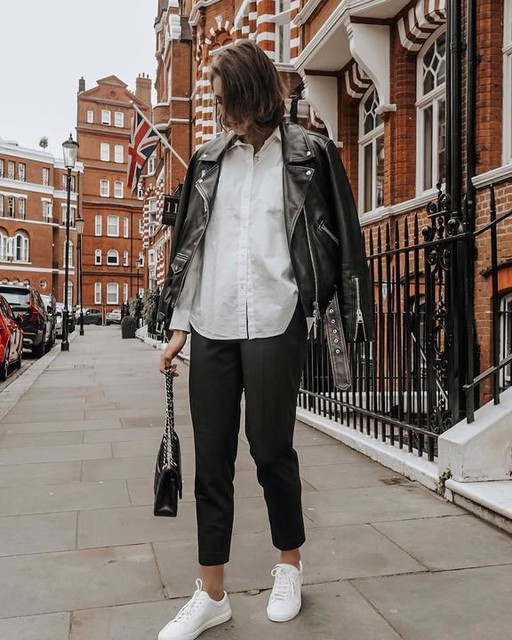itsjustinesjournal - Billie Leather Biker Jacket