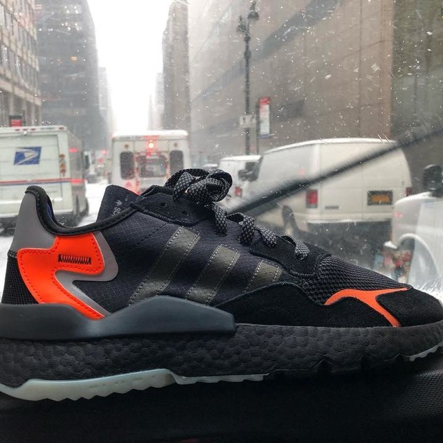 Finally broke down and grabbed these while in the city adidas. #nitejogger #adidasnyc #adidas5thave