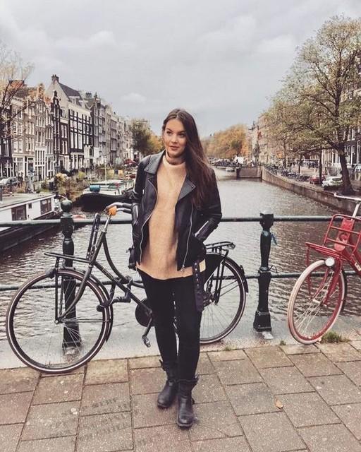 camishacyara - Cazadora de cuero biker oversize