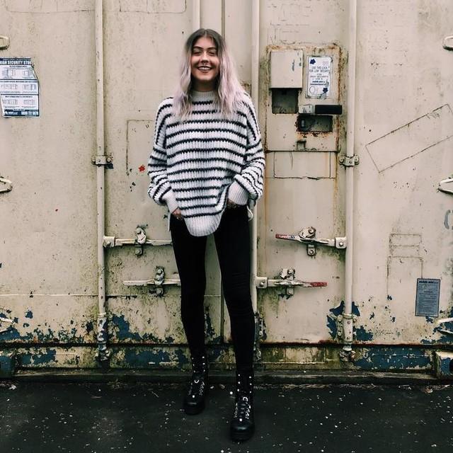 laura_oneill_ - Suéter Renne Stripe