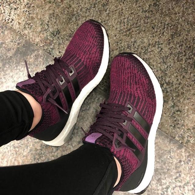 got that #casualfriday footwear on #adidas #ultraboost #maroon #black  #custom 😊