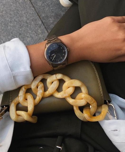 nicole_ign - Untitled VII Khaki Stainless Steel Watch