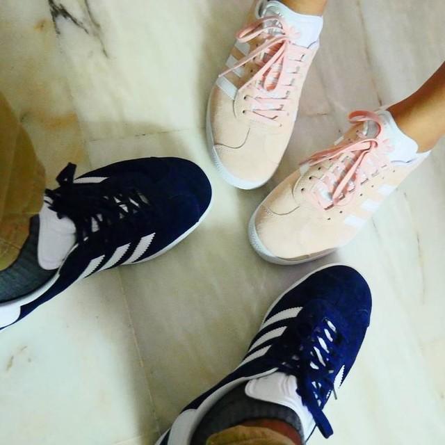 Twinning! Haha 😁😁😁 #adidas #gazelle