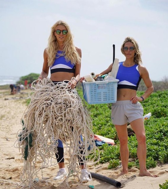 """""""Be the change you want to see in the world"""" 🌍 Today I took part in a @sustainablecoastlineshawaii beach clean 🌴 It was empowering and motivating yet heartbreaking 💔 We collected overwhelming amounts of ocean plastic from a single stretch of beach. Hundreds of metres of fishing rope, thousands of water bottles and countless micro plastics. It was piling up in mountains 😩 We NEED to come together to make this stop. Marine plastic is destroying our oceans and the creatures that live there. And the harsh reality? If the ocean dies, we die. We rely on it for every second breath we take 🌊 The greatest threat to our planet is the belief that someone else is going to save it. We need to stop looking to others for solutions, instead let's come together and BE the solution. As @chelseykorus says """"we are the ones we have been waiting for"""" 🙌🏼 You can see so much more of my experiences today on my Instagram stories, including a few tears 😢 And I have a super informative article on my blog about how we can all work together to fight ocean plastic: www.zannavandijk.co.uk 🐬 I really strongly encourage you to read it! 🤓Thank you @adidas @wanderlustfest @parley.tv for giving me to opportunity to contribute to positive change 🌱 I'm so proud to say the @adidas outfit I'm wearing in these photos is made from recycled marine plastic; and this is just the beginning 💚  Photo: @pabloshirley 📸 #adidasparley #beachclean"""