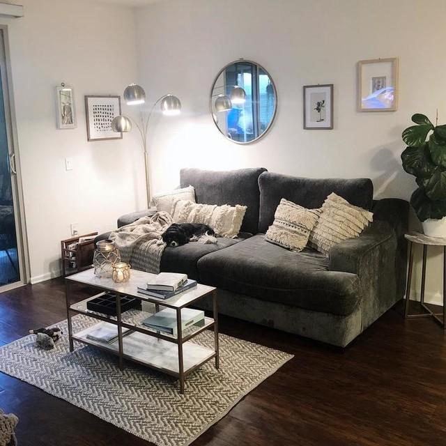 Lodge Foam White Sofa