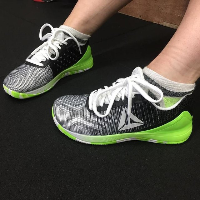 New shoes on the block...footwear on point @jennzaaaaa 😎🔥🏋️💪👠#crossfit #cfballymena #nano7 #reebok #shoes #wod #gains