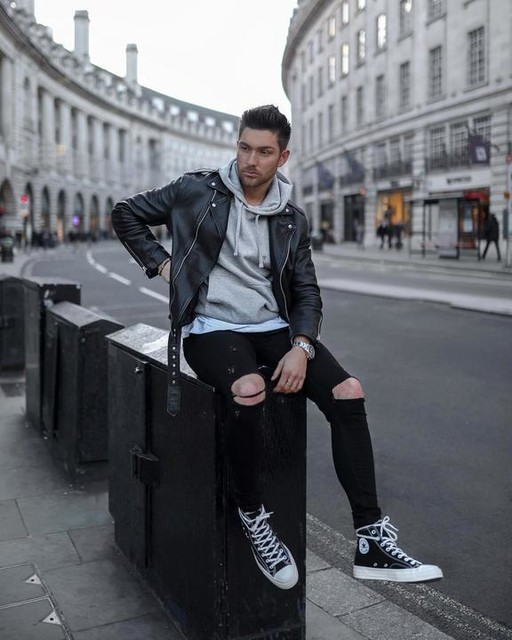 henryjwade - Wick Leather Biker Jacket