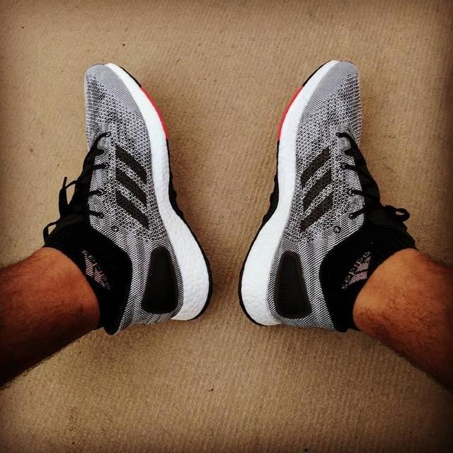 Finally got my first pair of #boost shoes! #adidas #pureboost #pureboostdpr #fatness