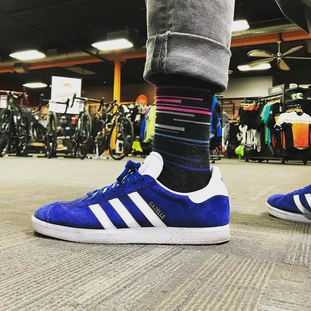 Wednesday Socks Day! #westernbikeworks #defeet #wooleator #dna #adidas #gazelle