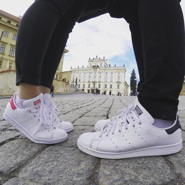 I don't walk alone anymore #white #stansmith #couple #picoftheday #