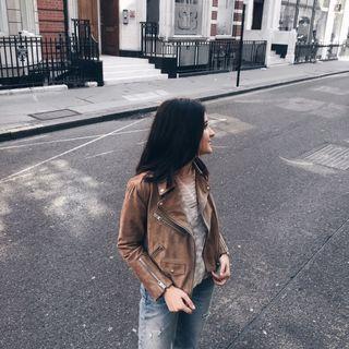 Carlotta Annunziata - Chine Suede Biker Jacket