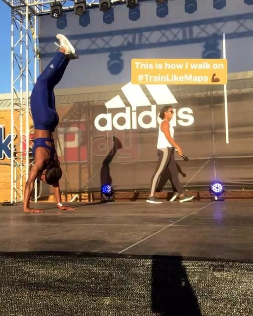 Walking into a new week with confidence to push beyond my limits 🤸🏾‍♀️🤸🏽‍♀️🤸🏻‍♀️ If you don't challenge yourself, you will never realize what you can become 🏋🏾‍♀️🏃🏾‍♀️🤸🏾‍♀️ @adidasza @shieldza  #heretocreate #Neverdone #Shieldready #TrainLikeMaps
