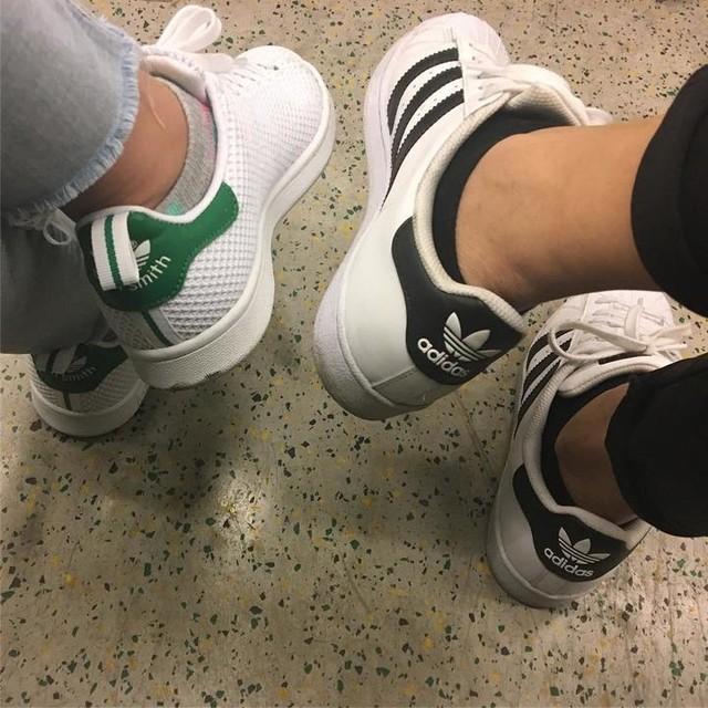 3 stripes /// #adidas #stansmith #superstar #stripes #white #black #green #shoes