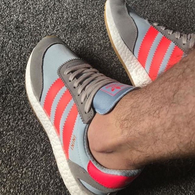 New #adidas #iniki #grey #turbo. Not had a new pair of trainers for 3 months so these had to be brought. A pure love or hate colour-way this, I love them #adidasoriginals #newtrainers