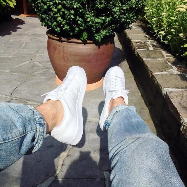 #new #sneaks  #blinding #white #adidas #adidassuperstar #ninja