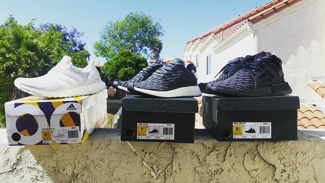 3 new pick ups... Ultraboost for the GF @mcm_crissy NMD R2 for the lil sister @camillej0yce and ofcourse Triple Black XR1 for me... hahaha 😆😊 #sandiego #filipino #adidas #teamadidas #nmd #nmds #kicks #nmdxr1tripleblack #adidasoriginals #ultraboost #xr1 #nmdxr1 #adidasnmd #adidasultraboost #thebrandwiththethreestripes #3stripesstyle