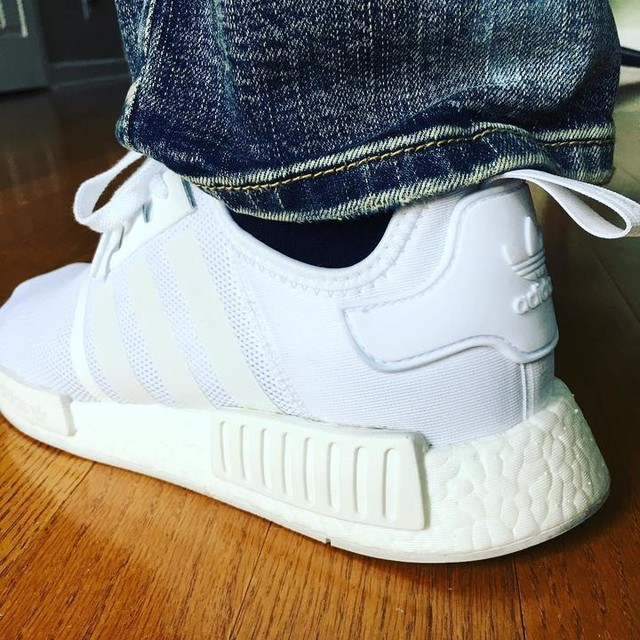 These are gonna get a lot of action this summer ⚪️#nmd #adidas #allwhite #noopykicks #thesolefirm #hypeaf #hypebeast