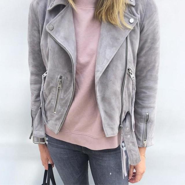 Andrea - Plait Balfern Suede Biker Jacket