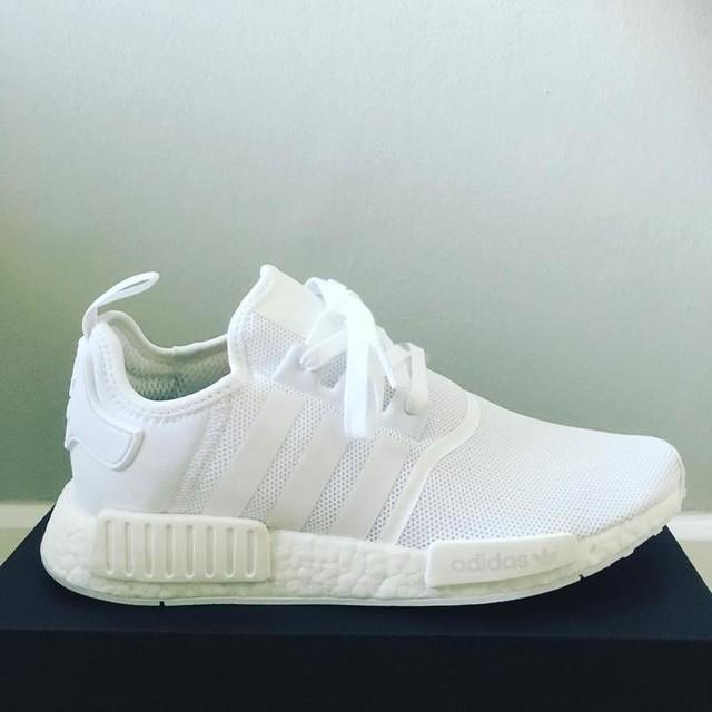 Little treat from me to me! #adidas #adidasnmd #whiteonwhite #allwhiteeverything #allwhitemate #sneakers #sneakerhead #sneakerfreaker #nmd #nmds #3stripesstyle #fresh #freshkicks #lifegoals #love #peace