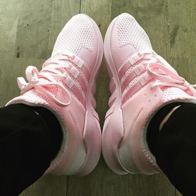 Pink to make the girls wink 😉 @adidas #adidas #eqt