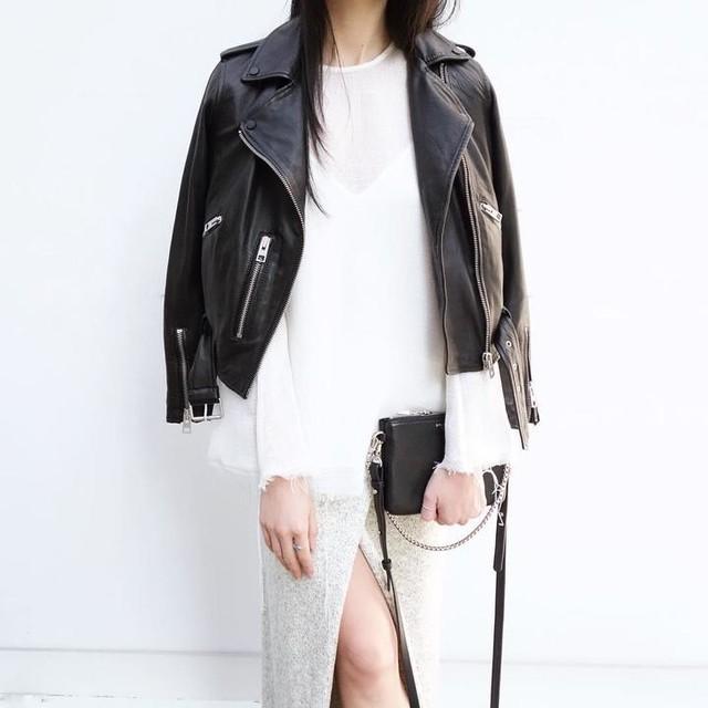 Marilee - Balfern Leather Biker Jacket