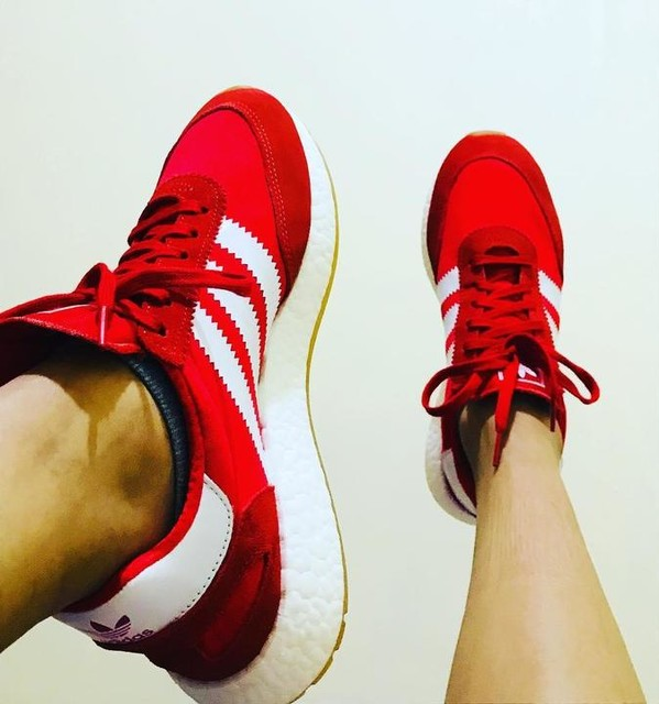 Good shoes takes you to good places... #iniki #red #adidas #shoes