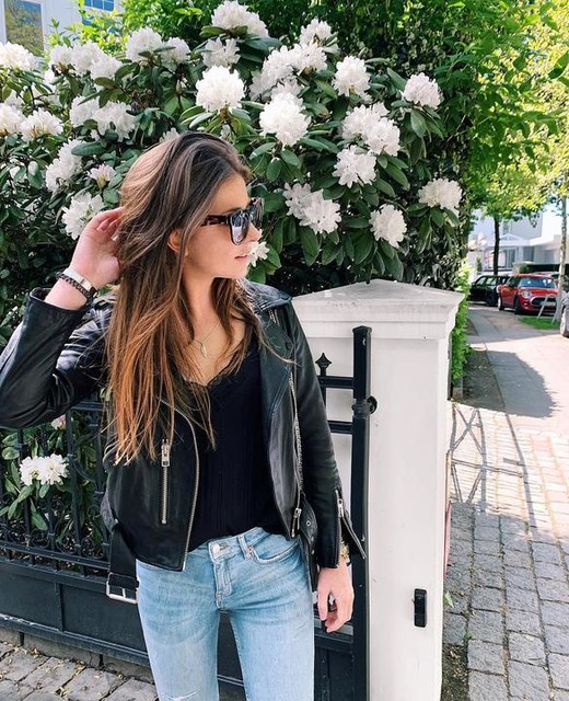 carlottaleaa - Balfern Leather Biker Jacket