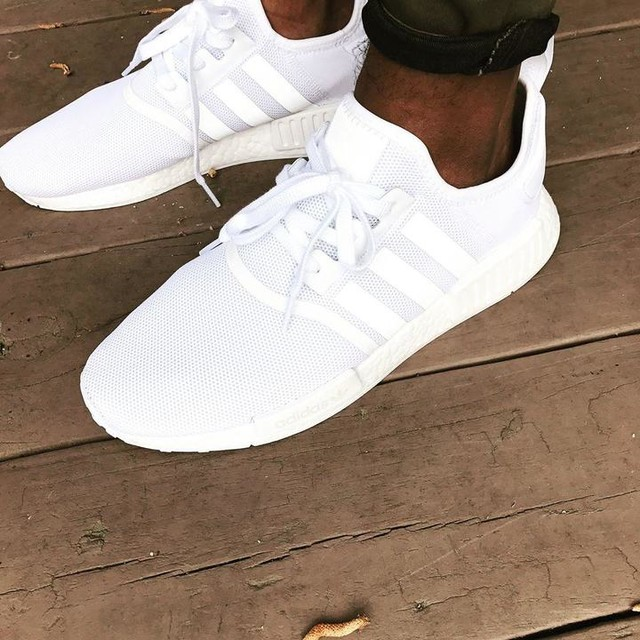 FINALLY got me a pair of the all white #Adidas #NMD. Been tryna get a pair since they first dropped. And they ❄️ af. 🙌🏾🙌🏾