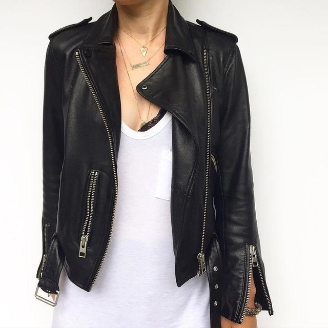 Kellye Sauder ↟ - Balfern Leather Biker Jacket