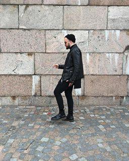 Kaj Pronko - Dario Leather Biker Jacket