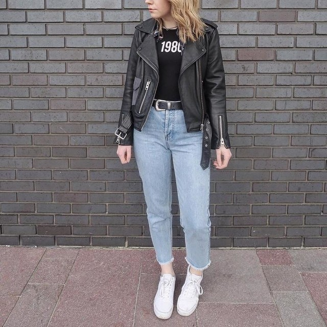 Natasha Amanda Hide ⚡️ - Balfern Leather Biker Jacket