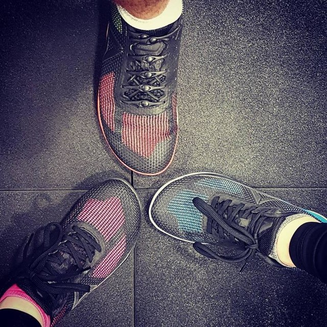 Best #trainingsbuddies ever 😙  with our new #reebok shoes.  #reebokcrossfit #trainingsbuddy #trainingsbuddy #womanwithmuscels #fitness #fitnesslove #stronglady #puretraining #HardestWorkersInTheRoom #training #gymtime #gymlove #morningworkout #morningworkouts #crossfit #workout #weightlifting #wod #wodndone