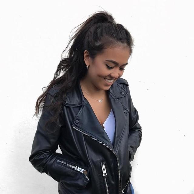 MARJ MOORE - Balfern Leather Biker Jacket